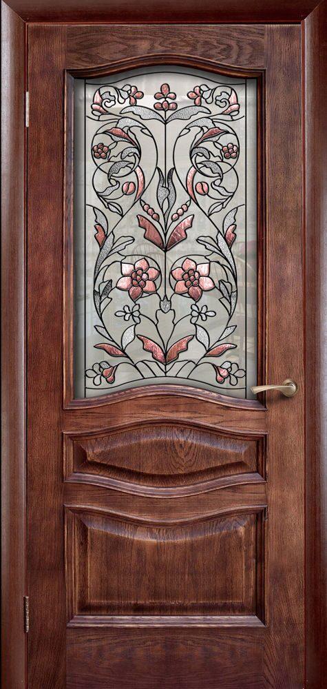двери металлические с витражем