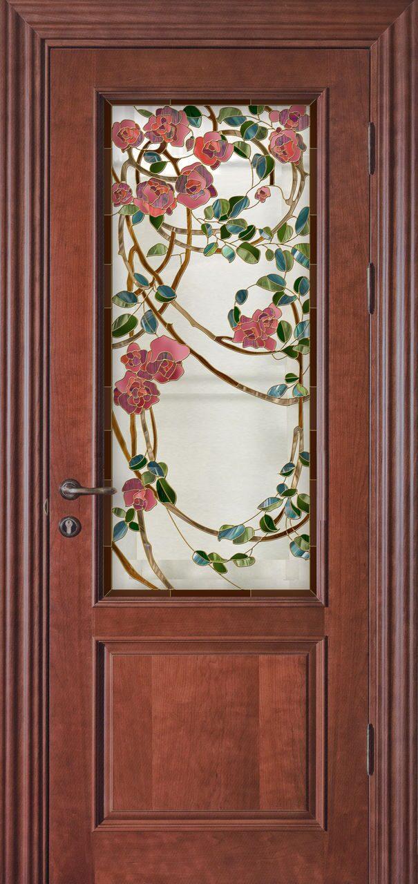 металлическая дверь с цветами